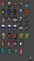 Final Fantasy NES Sprite Fun 2 by Clank-head