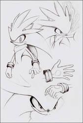 Practice - Silver the Hedgehog by goldhedgehog