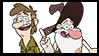 Gravity Falls Stamps : Fiddleford McGucket by Ammoniteling