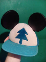 My Custom Mickey Ears, Dipper cap by Ammoniteling
