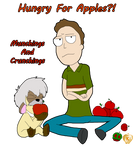 Rick And Morty : Jerry Smith,  Hungry For Apples by Ammoniteling