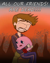 MCU + SSBU:Kirby N Tony, All Our Friends Are Dead! by Ammoniteling