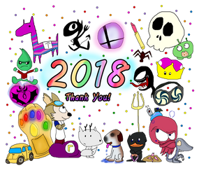 End Of 2018, Happy New Year by Ammoniteling