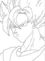 SSJ Goku lineart by YamiKaosu