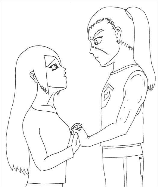Kassandra and Heroin lineart by YamiKaosu