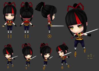 Ninja Girl by JinkiMania