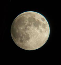Telescope Moon by wolfrayetstar