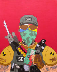 Soldier of misfortune- acrylic on canvas 2014 by alexander982