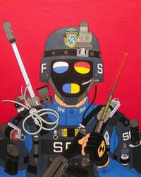 Liquidator- acrylic on canvas 2014 by alexander982