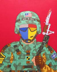 Dog of war- acrylic on canvas 2014 by alexander982