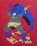 Night Knight, acrylic on canvas, 50x40cm, 2015 by alexander982