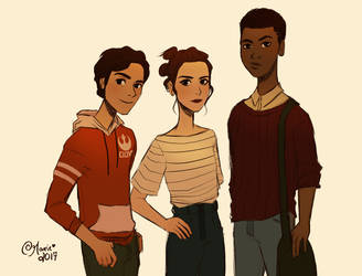 SW Teen AU: TFA Crew by TheGingerMenace123