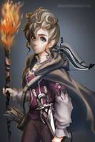 Halfling warlock- Sylvia by sakuyasworld