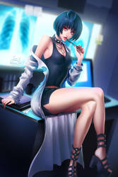 Persona5: Tae Takemi by sakuyasworld