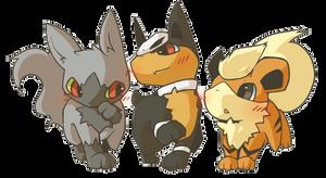 Poke Puppies by Treeckolovespie
