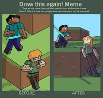 Draw This Again Meme: Steve and Alex by XdiSTRESSionX