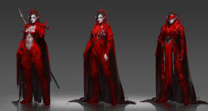 Lady in red by Sinto-risky