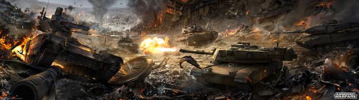 Tank battle by Sinto-risky
