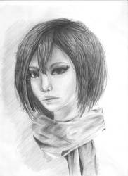 Mikasa portrait by Lucceira