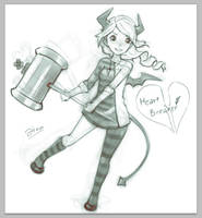 Sketch.10 - Heart Beaker - by Weiss-gatto