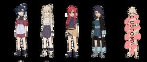 Naruto Girls III by Snowbunnia