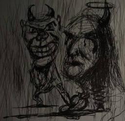 Pain sketch by Minosaleppe by Minosaleppe