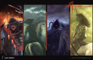 CHAR 4 Horsemen by azzuriblade