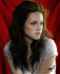 Kristen Stewart retrato digital by yrastilo