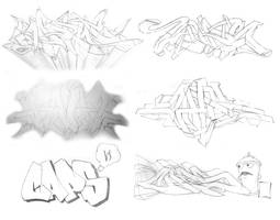 Graff Sketches 02 by JohnVichlenski
