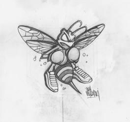 Boxing Hornet Sketch by JohnVichlenski