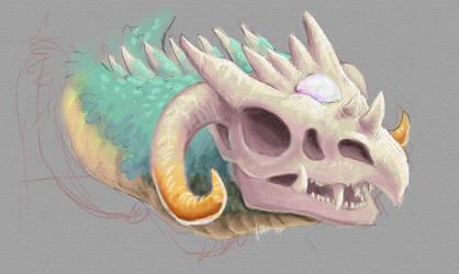 Bone Dragon by nepryne