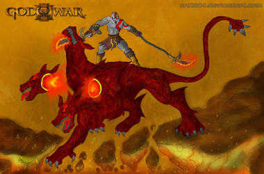 Kratos Vs Cerberus Breeder by srt2024