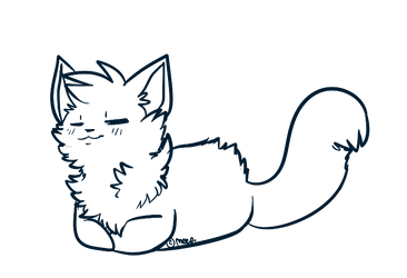 Free Sick Meep Linearts 3: CatLoafs by MystikMeep