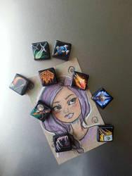 WOW magnets by Thekawaiiod