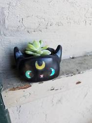 Cute sailor moon Kitty pot by Thekawaiiod