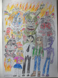 ONE BIIIG HAPPY FAMILY!!! (FNAF 6) by Zomboider