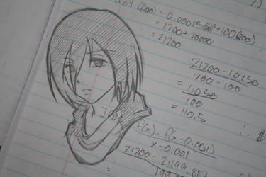 Mikasa Sketch by Shyua