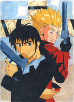 Vash and Wolfwood by hulyen