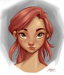 Painting a girl's face by makseph