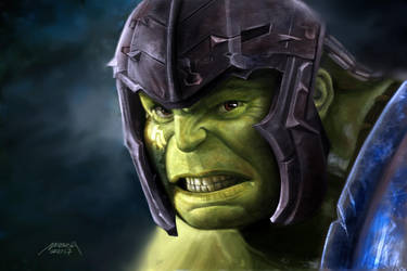 Incredible Hulk - Digital Painting by makseph