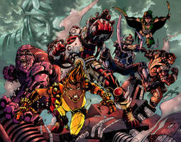 Suicide Squad, colored by olivernome
