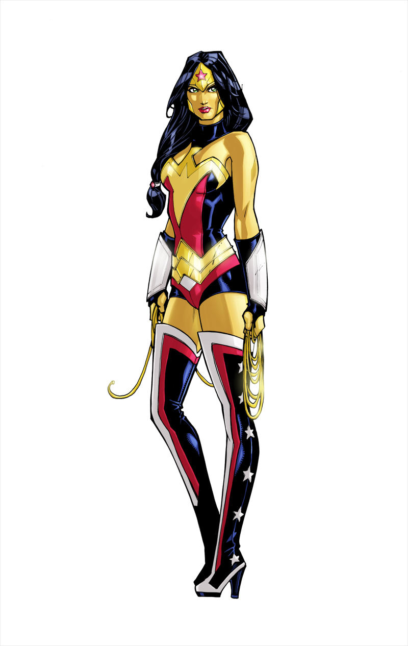 Wonder Woman colors by olivernome