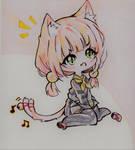 Chibi Neko Girl [Colored Version] by SophieSeraph