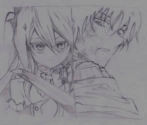Krul vs Guren [Sketch] by SophieSeraph