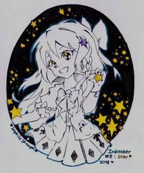 Inktober 2018 #8 Star by SophieSeraph