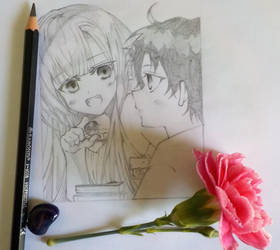 Mahiru and Guren [Sketch] by SophieSeraph