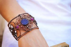 Copper Bracelet by twistedjewelry
