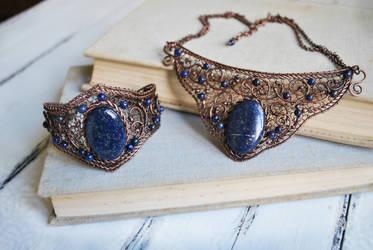 Lapis Lazuli Set by twistedjewelry