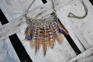 Boho brass necklace by twistedjewelry