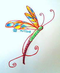 More Dragonfly Practice  by WowLovely88